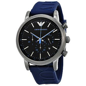 Emporio Armani Men's Ar11023 Blue Silicone Analog Quartz Dress Watch