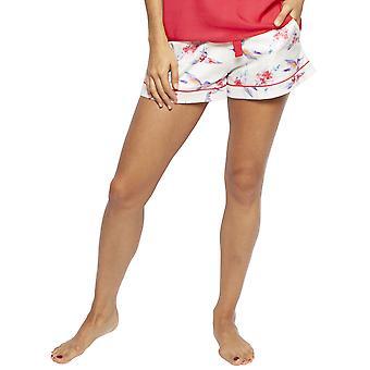 Cyberjammies 4204 Femme Evie Ivory Off-White Hummingbird Print Cotton Pyjama Short