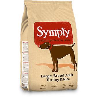 Nourriture pour chiens secs Symply adulte grande race Turquie et riz - sac de 2Kg