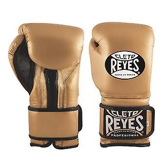 Cleto Reyes Velcro Boxing Gloves Gold