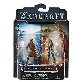 World Of Warcraft Mini Figure 2 Pack Lothar Vs Garona