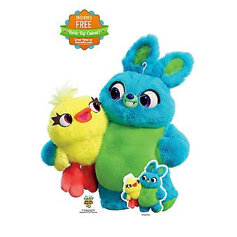 Bunny and Ducky Official Disney Toy Story 4 Lifesize Cardboard Cutout