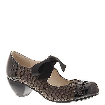 NOTFOUND Womens Fish Bow Leather Closed Toe Classic Pumps