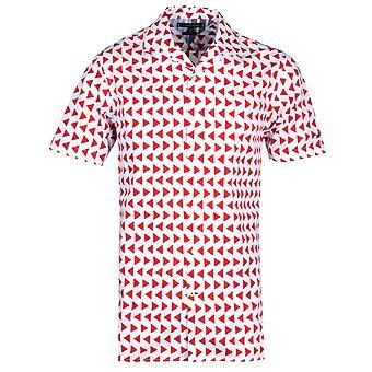 Tommy Hilfiger Bold Geo Stampa Regular Fit Camicia Bianca