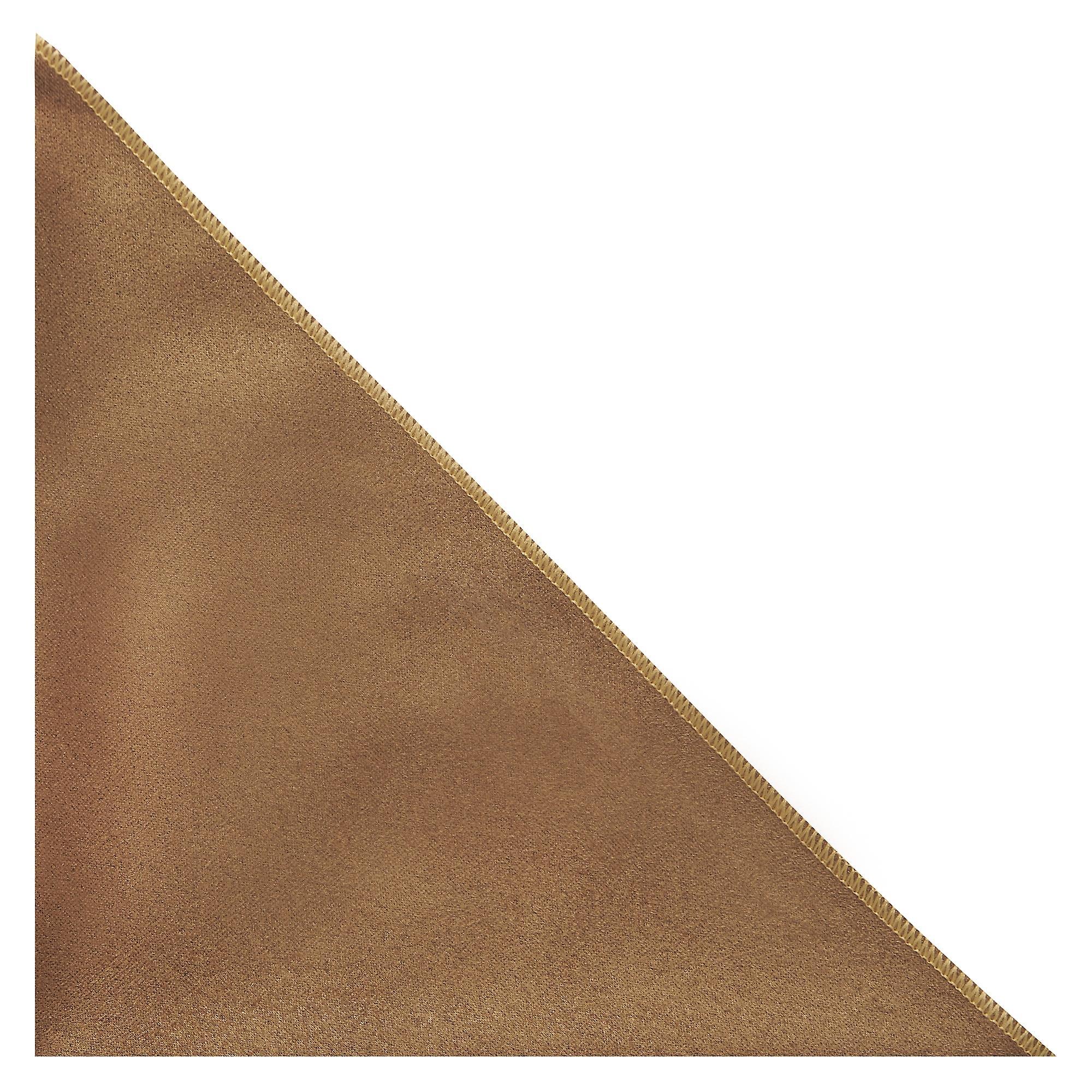 Luxury Golden Brown Suede Pocket Square, Handkerchief
