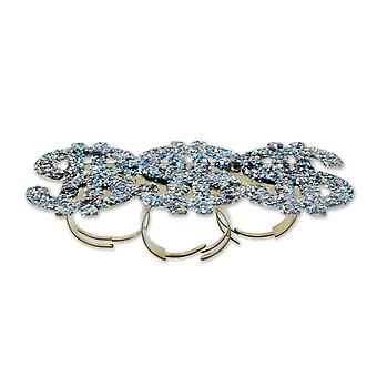 Bristol Novelty Unisex Adults Dollar Glitter Ring