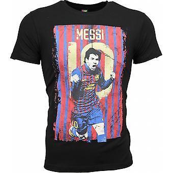 Camiseta-Messi 10 Impresión-Negro