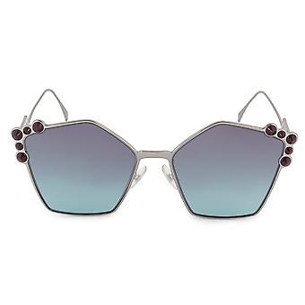 Fendi Can Eye FF 0261/S 6LB/JF 57 Geometric Sunglasses
