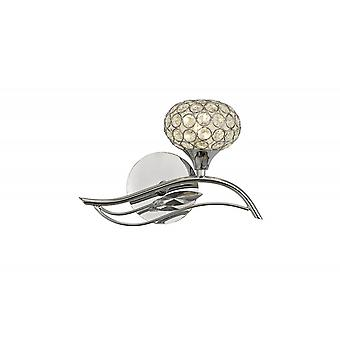 Diyas Leimo Wall Lamp Switched 1 Light Right Polished Chrome/Crystal