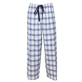 Cyberjammies 6424 Men's Harper Blue Mix Check Cotton Pyjama Pant