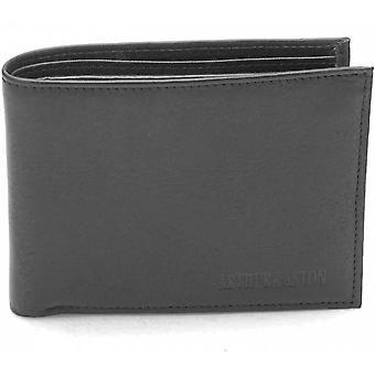 Horizontale Brieftasche - Vachette und Logot Leder