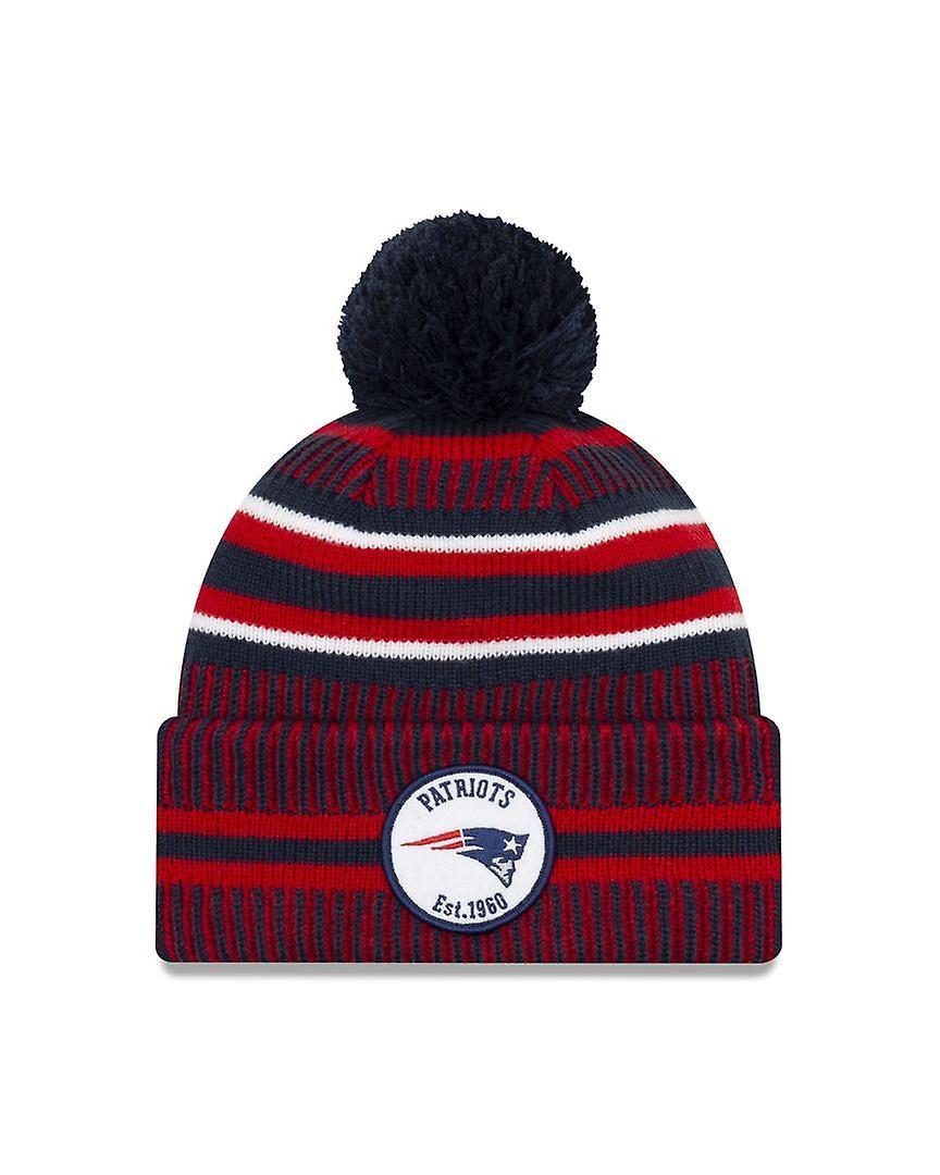 New Era On Field Sport Knit Hm Beanie ~ New England Patriots