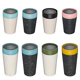 rCup 8oz/12oz Reusable Coffee Cup Made From Recycled Cups, 100% Leak Proof, Various Styles