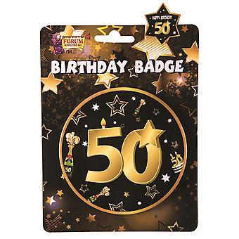 Bristol Novelty 50th Birthday Badge