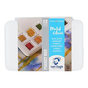 Van Gogh Watercolour Pocket Box Set  of 12 (Muted Colours)