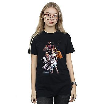 Star Wars The Rise of Skywalker Resistance illustration kvinnor ' s pojkvän Fit T-shirt