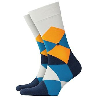 Burlington Clyde Neon Socks - Black/Orange/Grey