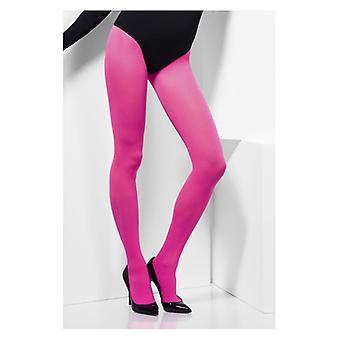 Womens heißen rosa blickdichte Strumpfhose Fancy Dress Zubehör