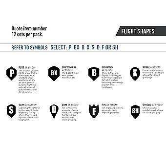 Unicorn Darts Core .75 Plus Flights Metallic Hologram Range - Aces High