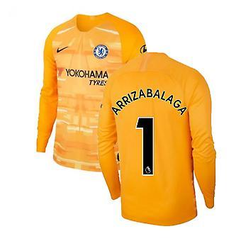 2019-2020 Chelsea Home Nike Goalkeeper Shirt (Gold) (ARRIZABALAGA 1)