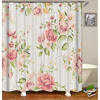 Light Pink Floral Shower Curtain