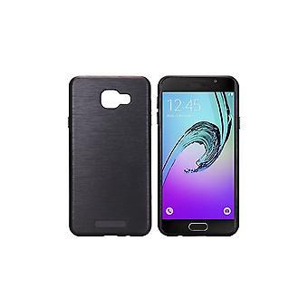 Rumpf für Samsung Galaxy A5 (2017) Schwarz Bi-Matter Brushed Effekt
