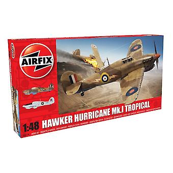 Airfix A05129 Hawker Hurricane Mk1 - Scala tropicale 1:48 Modello Kit