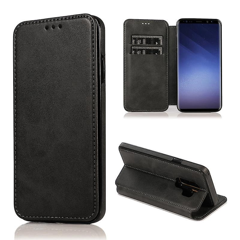 CaseGate phone case case for Samsung Galaxy S9 Plus case cover - magnetic clasp, stand function and card compartment