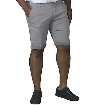 Duke D555 Mens Calvin Big Tall King Storlek Stretch Cotton Chino Shorts - Grå