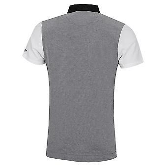 Wolsey Mens Jacquard Colour Block Stretch Quick Dry Golf Polo Shirt
