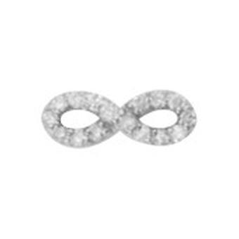 14k לבן זהב יחיד 0.10 Dwt יהלום אינפיניטי פתוח עגילים תכשיטים מתנות לגברים