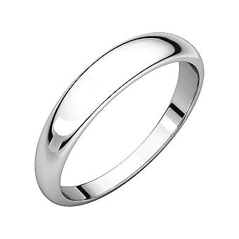 925 Sterling Silver 4mm Half Round Tapered Band Ring Size 11 Jewelry Gifts for Women - 2.4 Grams