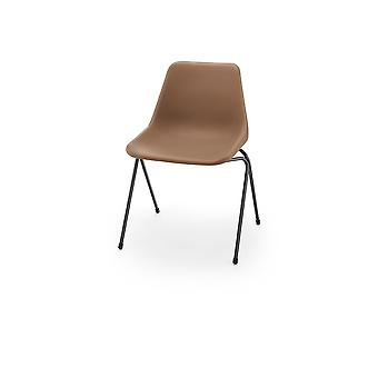 Hille Brown Robin Day Poly Side Chaise en plastique
