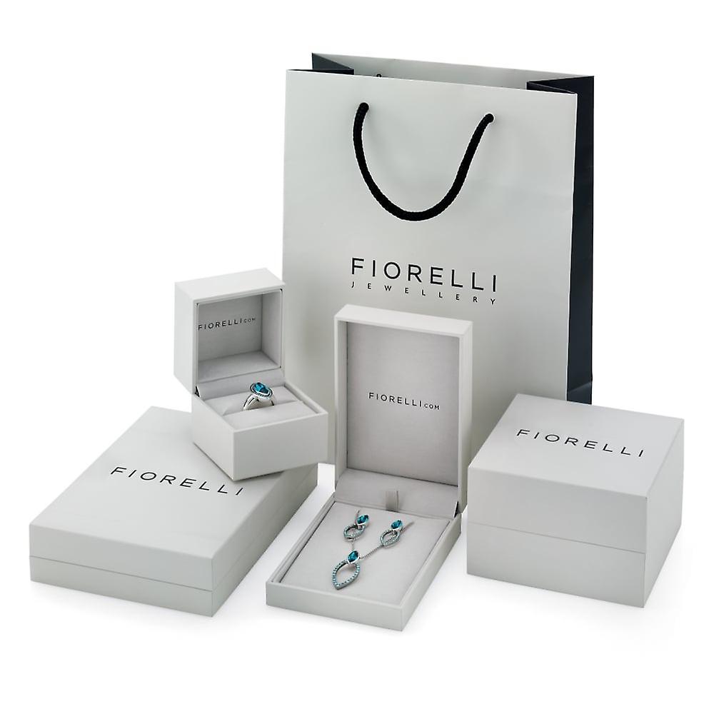 Fiorelli Silver Bamboo Chain Drop Necklace N3954