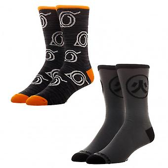 Crew Socks - Naruto 2 Pack New Licensed xs5swhnar