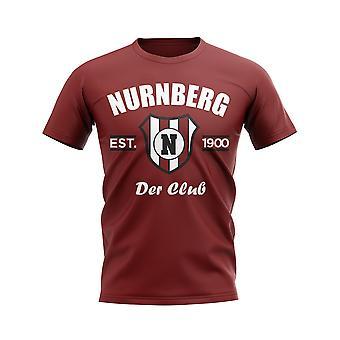 Nurnberg Gevestigde Voetbal T-shirt (Maroon)