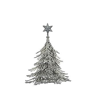 Light & Living Ornament 20x23cm Christmas Tree Grey