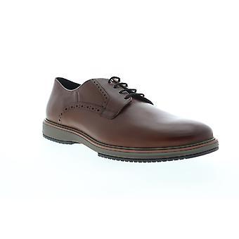 Geox U Tyren Mens Brown Leather Oxfords & Lace Ups Plain Toe Shoes