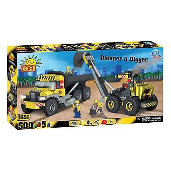 Action Town 500 Piece Construction Dumper og Digger Set