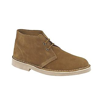Roamers Sand Real Suede Desert Boot Unlined Tpr Sole