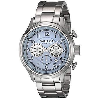 Nautica Chronograph kvartsi miesten kelloa ruostumaton teräs bändi A19631G