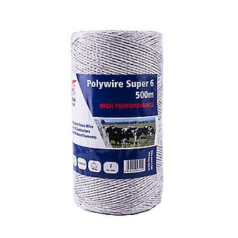 Fenceman Polywire Electric Fence Wire Super 6 500m