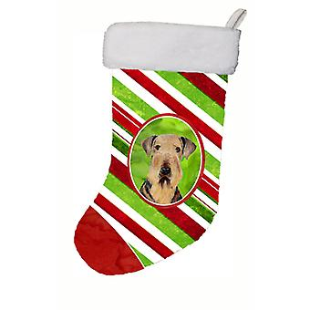 Airedale Candy Cane Holiday Christmas  Christmas Stocking SC9333
