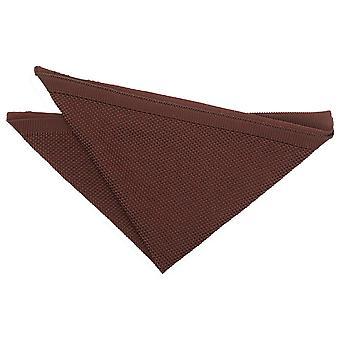 Suklaa ruskea neulottu taskuneliö
