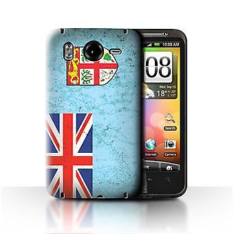 STUFF4 Case/Cover for HTC Desire HD/G10/Fiji/Fijian/Oceania Flag