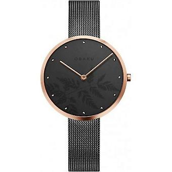 OBAKU - Wristwatch - Women - HASSEL NATUR-GRANITE - V219LXVKMJ