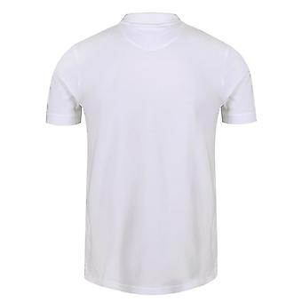 لايل وسكوت الرجال & أبوس وقميص بولو أبيض