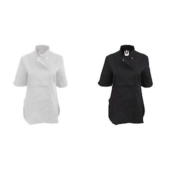 Dennys Womens/Ladies Short Sleeve Fitted Chef Jacket