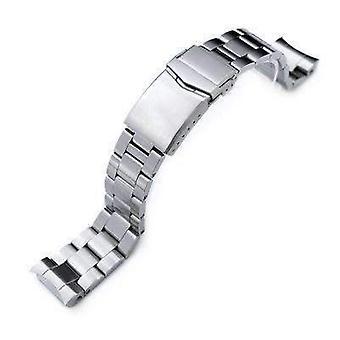 Strapcode katsella rannekoru 20mm super osteri katsella bändi seiko mm300 prospex marinemaster sbdx001 sbdx017, harjattu, v-lukko painike kaksinkertainen lukko