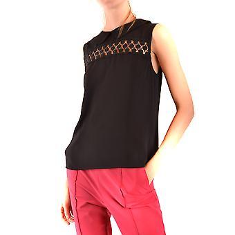 Pinko Ezbc056285 Kvinder's Sort Polyester Top